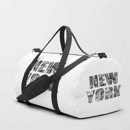 New York  B&W typography Duffle Bag
