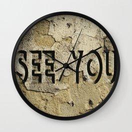 see you Wall Clock