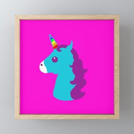 Portrait  of a Unicorn Framed Mini Art Print