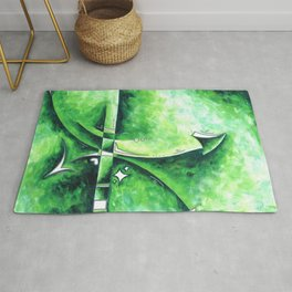 Emerald City Abstract Green Color Study Painting by Megan Duncanson MADART Rug