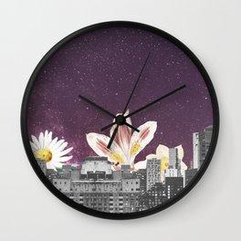 City Night Sky Modern Collage Wall Clock