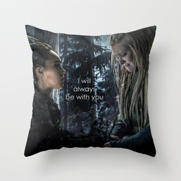 """Clexa: """" I will always be with you"""" Throw Pillow"""