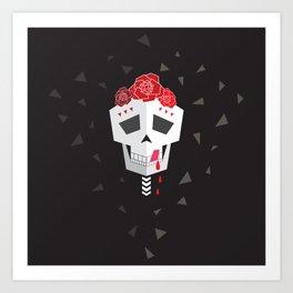 Salsa Skull Art Print