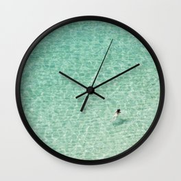 Naked swimming in Paradise Wall Clock