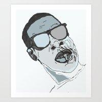 jay z Art Prints featuring Jay Z. by BlvckBewty