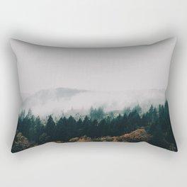 Forest Fog Rectangular Pillow