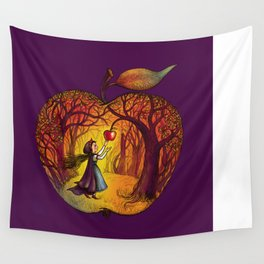 Autumn apple story Wall Tapestry