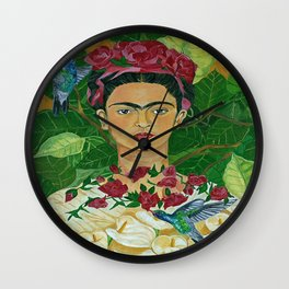 Frida In Heaven Wall Clock