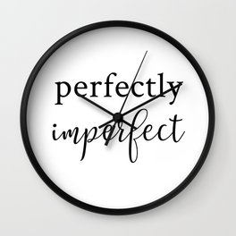 Perfectly Imperfect Wall Clock