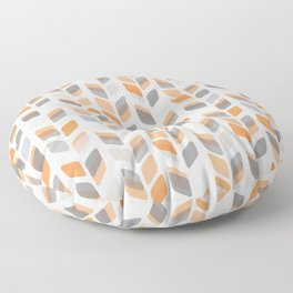 Modern Rectangle Print with Retro Abstract Leaf Pattern Floor Pillow