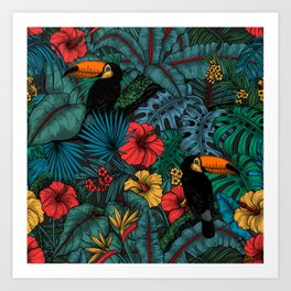 Toucan garden Art Print