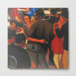 African American Masterpiece 'Swinging to the Blues' by Archibald Motley Metal Print