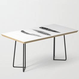 Feather Trio | Black and White Coffee Table