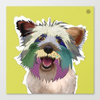 terrier Canvas Prints featuring Terrier by TiannaHarman