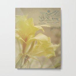 Yellow Canna Metal Print