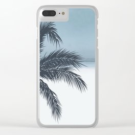 Palm and Ocean Clear iPhone Case