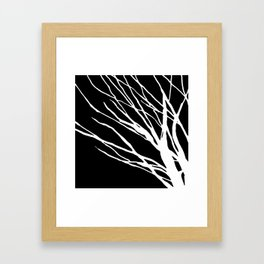 Black and White Cookie Blues Framed Art Print