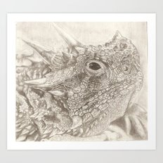 The Horned Lizard. Art Print