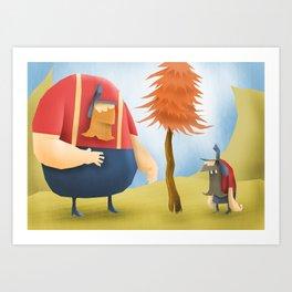 Lumberjacks Art Print