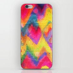 BOLD QUOTATION in NEONS 2 - Intense Rainbow Abstract Watercolor Art Painting Dream Pink Ikat Pattern iPhone Skin
