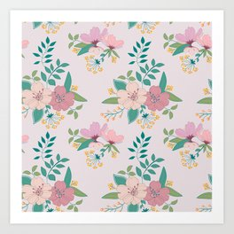 Spring pattern Art Print