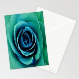 Painterly Rose - Blue- Green - Turquoise Stationery Cards