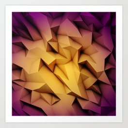 Colored crystal formation Art Print