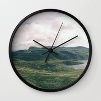 norway Wall Clocks featuring Norway Panorama by see BOLD
