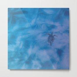 Swimming Sea Turtle Metal Print