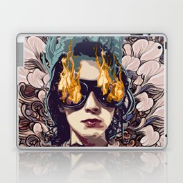 The Girl on Fire Laptop & iPad Skin