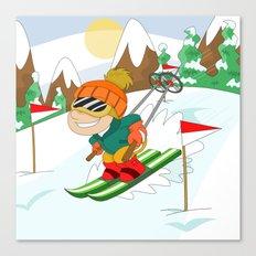 Winter Sports: Skiing Canvas Print