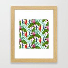 Hummingbird in the Rainforest Framed Art Print
