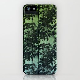 Leaf Shadows on Deck - green2turquoise iPhone Case