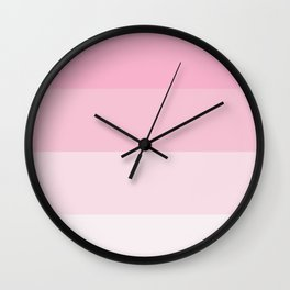 Pink Ombre Coloured Wall Clock