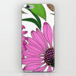 Echinacea by Mali Vargas iPhone Skin