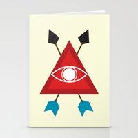 illuminati Stationery Cards featuring Illuminati by Lucas de Souza