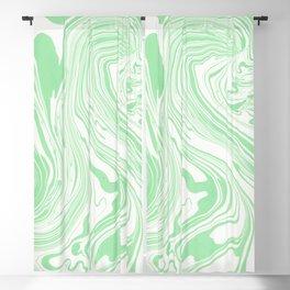 Pastel green & White marble Swirls Blackout Curtain