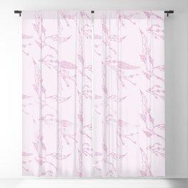 Blush pink girly modern elegant floral Blackout Curtain
