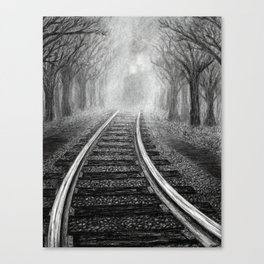 Untitled - charcoal drawing Canvas Print