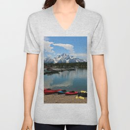 Beautiful Summerday At Colter Bay Unisex V-Neck