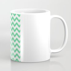 funky chevron mint pattern Coffee Mug