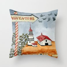 Suitcases are ready Throw Pillow