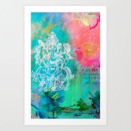 Ganeesh phone skin Art Print