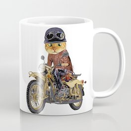 Cat riding motorcycle Coffee Mug