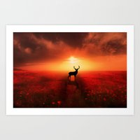 Poppy Field Dreams Art Print
