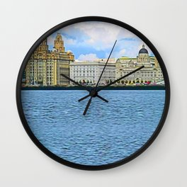 Liverpool Water Front Wall Clock
