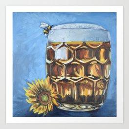 Bee Beer Art Print