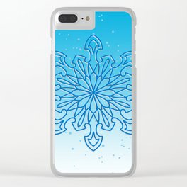 Snowflake Frost Clear iPhone Case