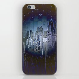 Walls in the Night - UFOs in the Sky iPhone Skin
