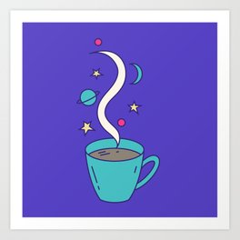The Universe in my Cup Art Print
